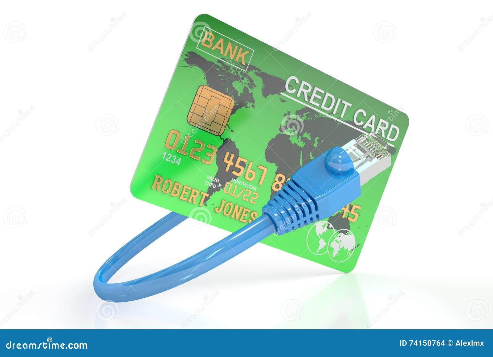 Online Payment Concept 3d Rendering Stock Illustration