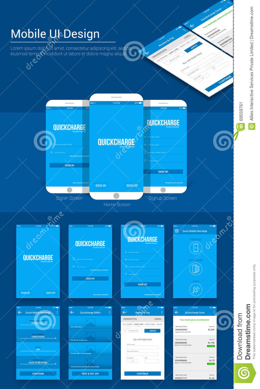 Online Payment Mobile App Ui Ux And Gui Template