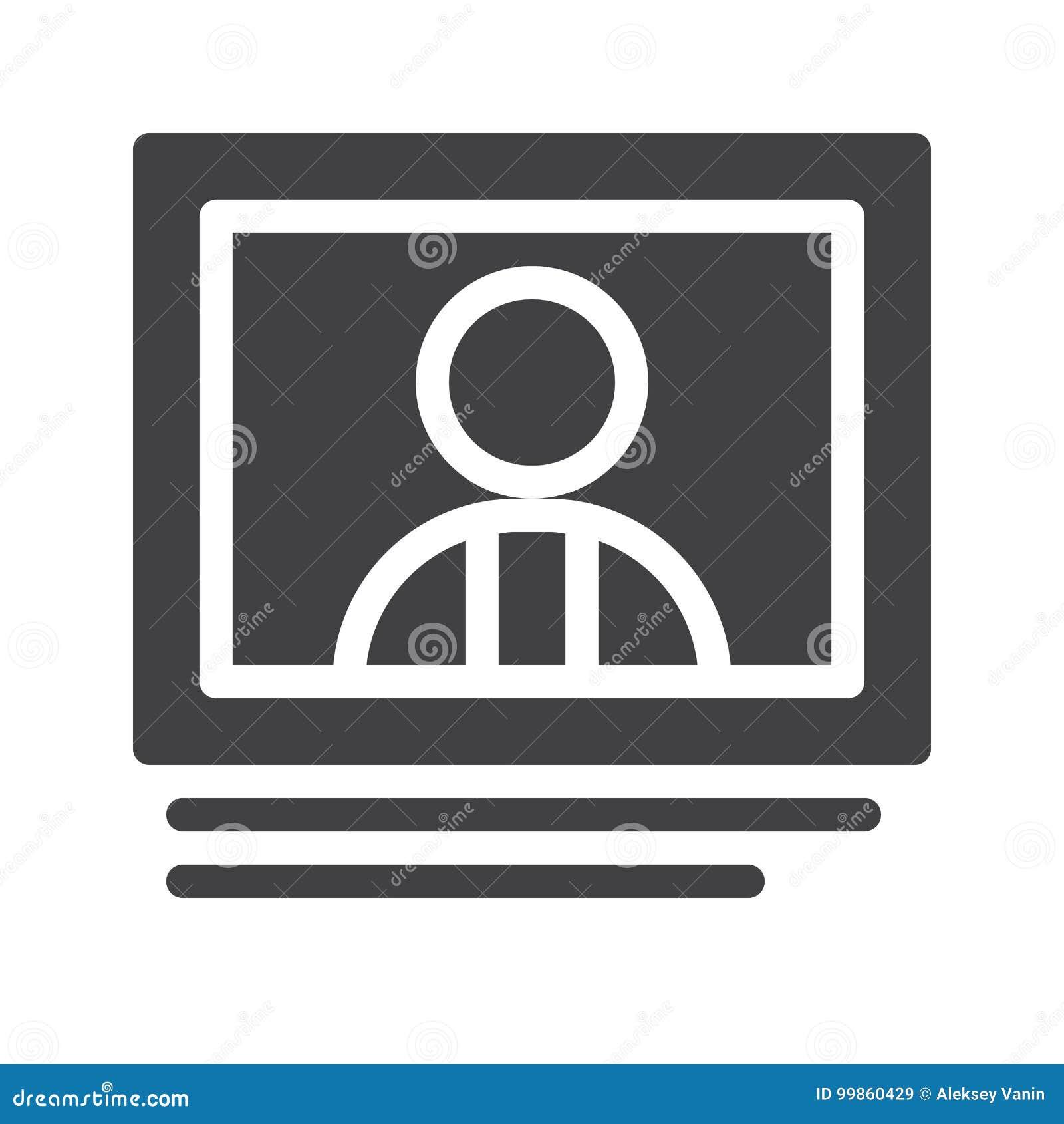 Online praatje op het pictogramvector van de computermonitor
