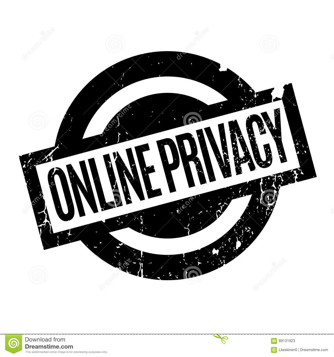 online privacy rubber stamp stock vector illustration of header