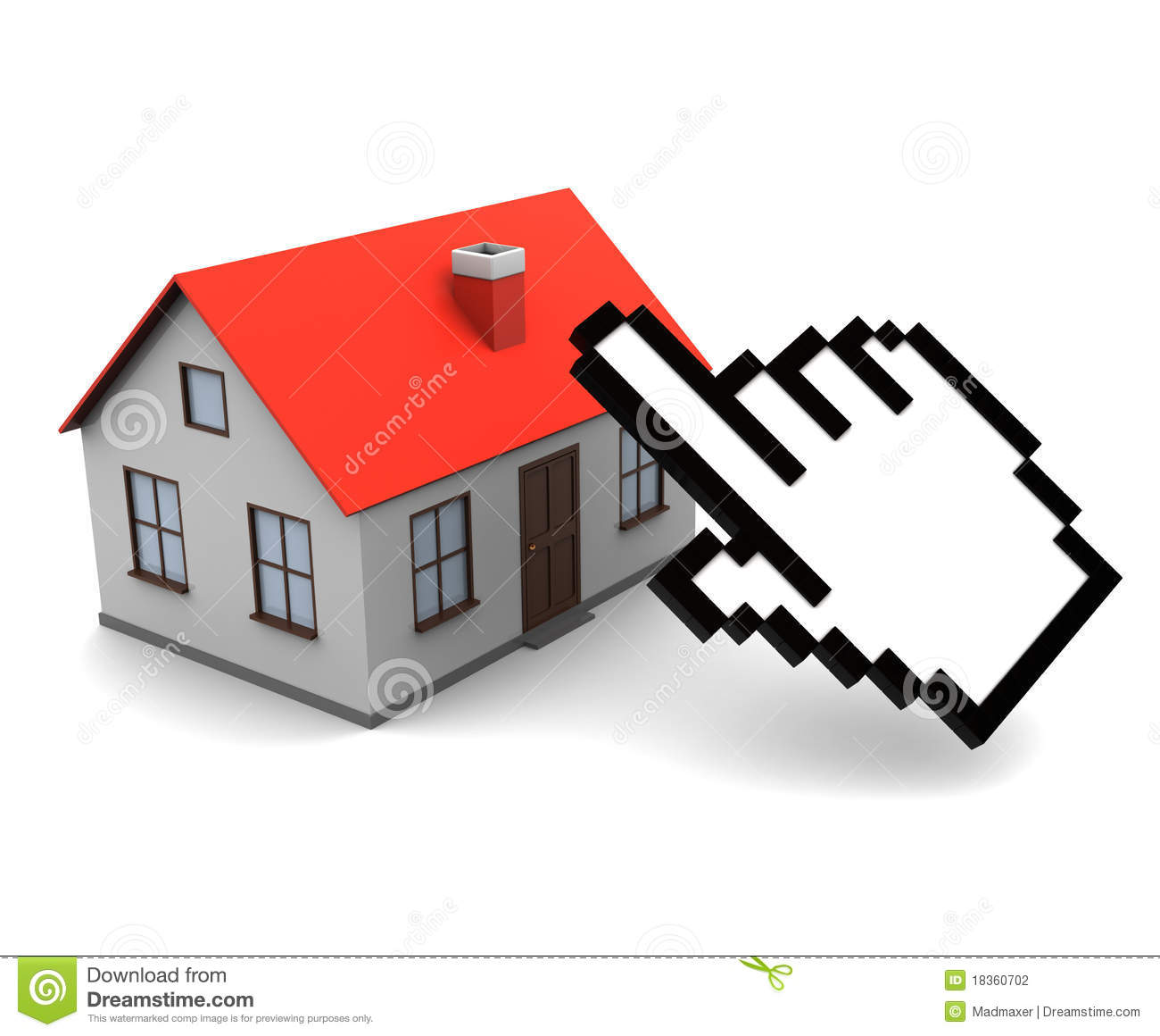 Online real estate buy stock photography image 18360702 for Buy house online