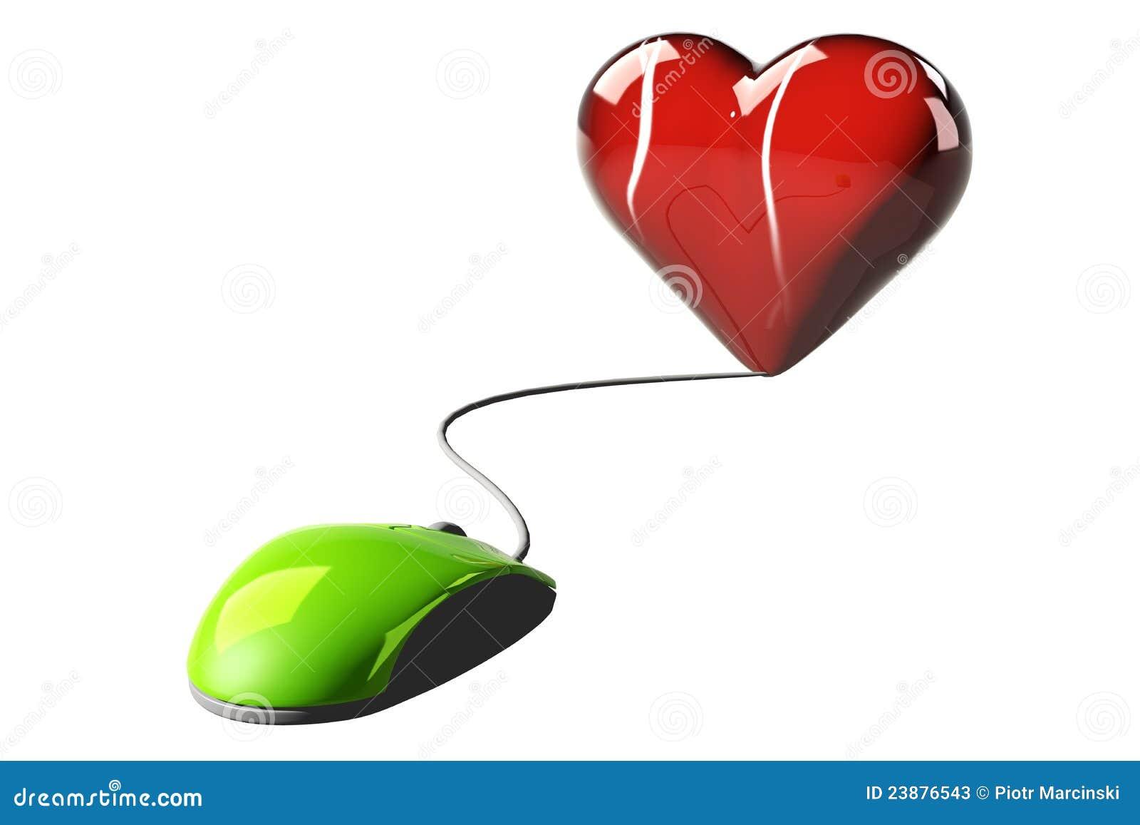 Online romance concept