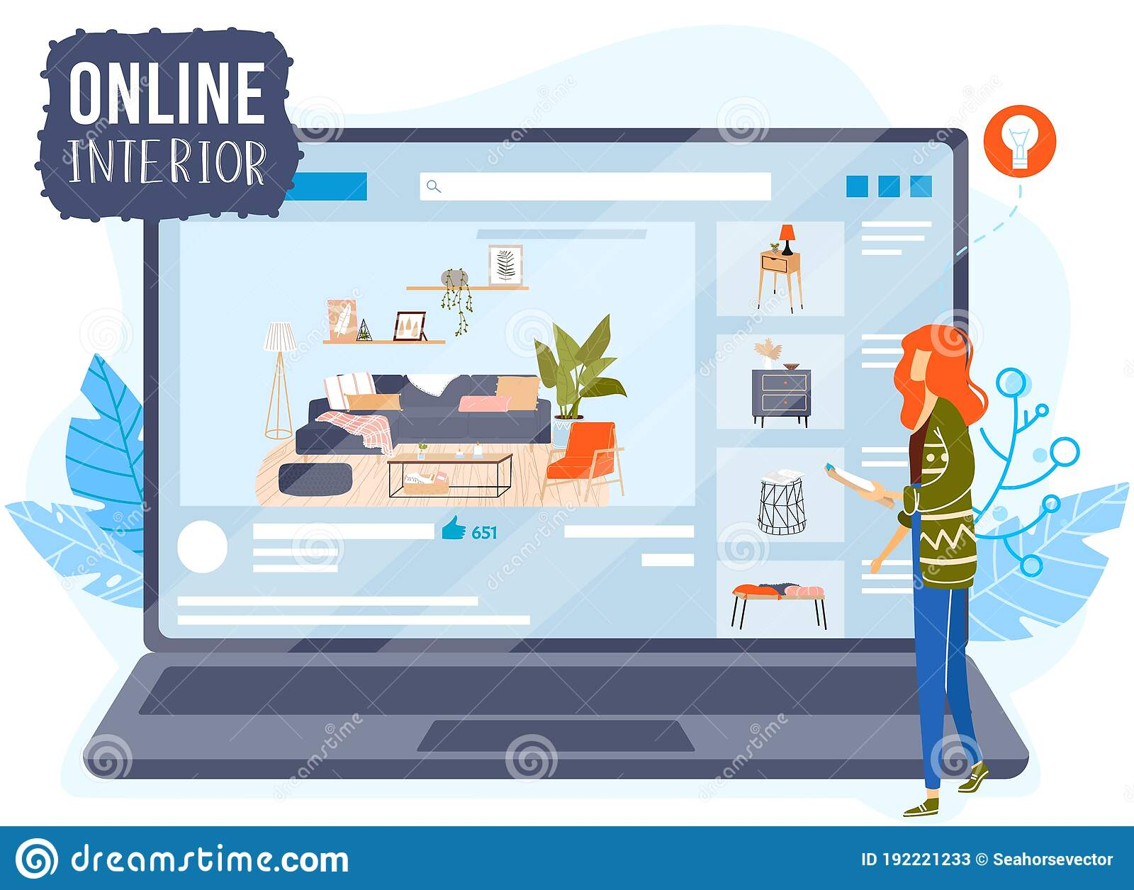 Online Room Interior App Design Concept Vector Illustration Cartoon Architect Designer Character Planning Home Stock Vector Illustration Of Flat Application 192221233