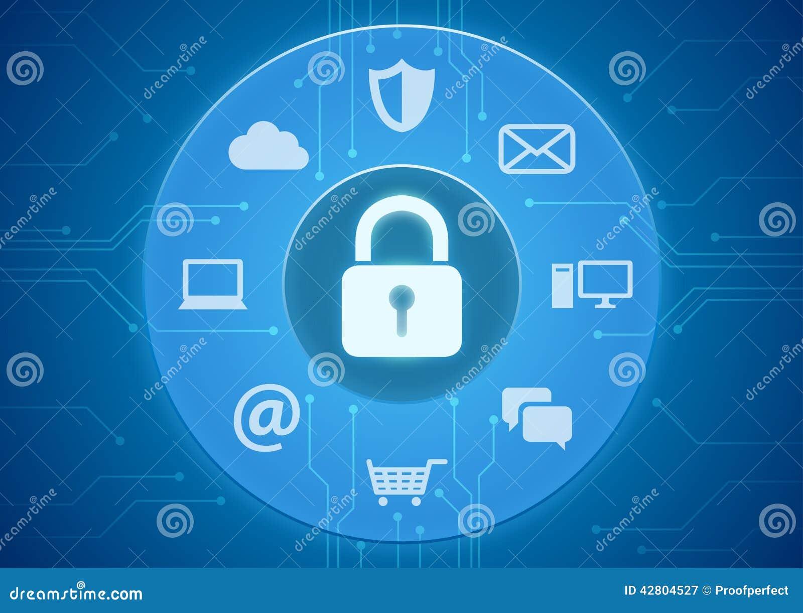 Online Security Stock Vector Image 42804527