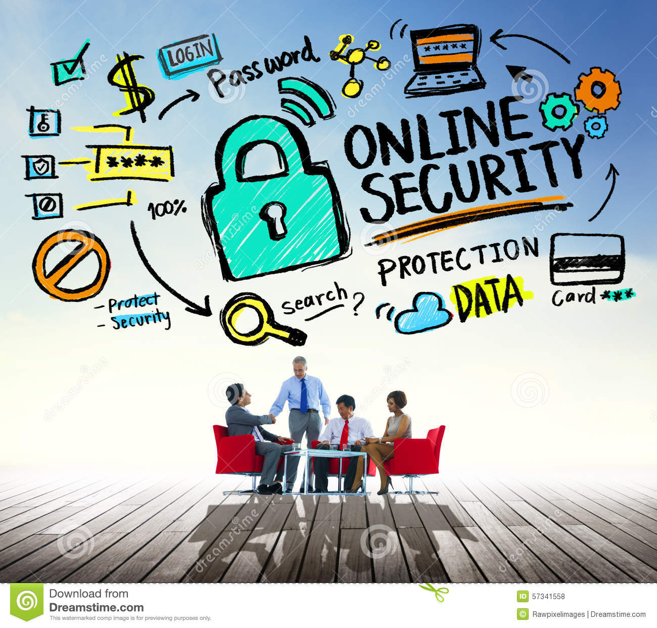 Online Security Password Information Protection Privacy