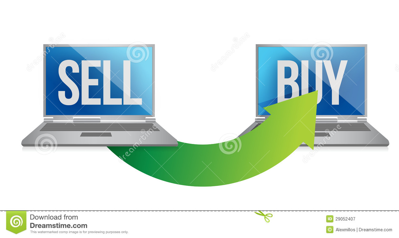 Online sell and buy concept royalty free stock photography image