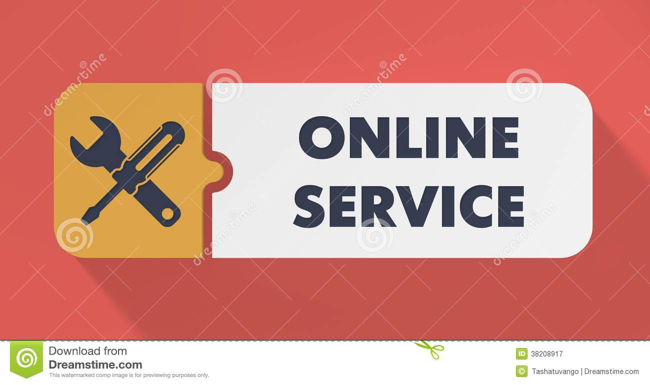 Online service concept in flat design stock illustration for Online architect services