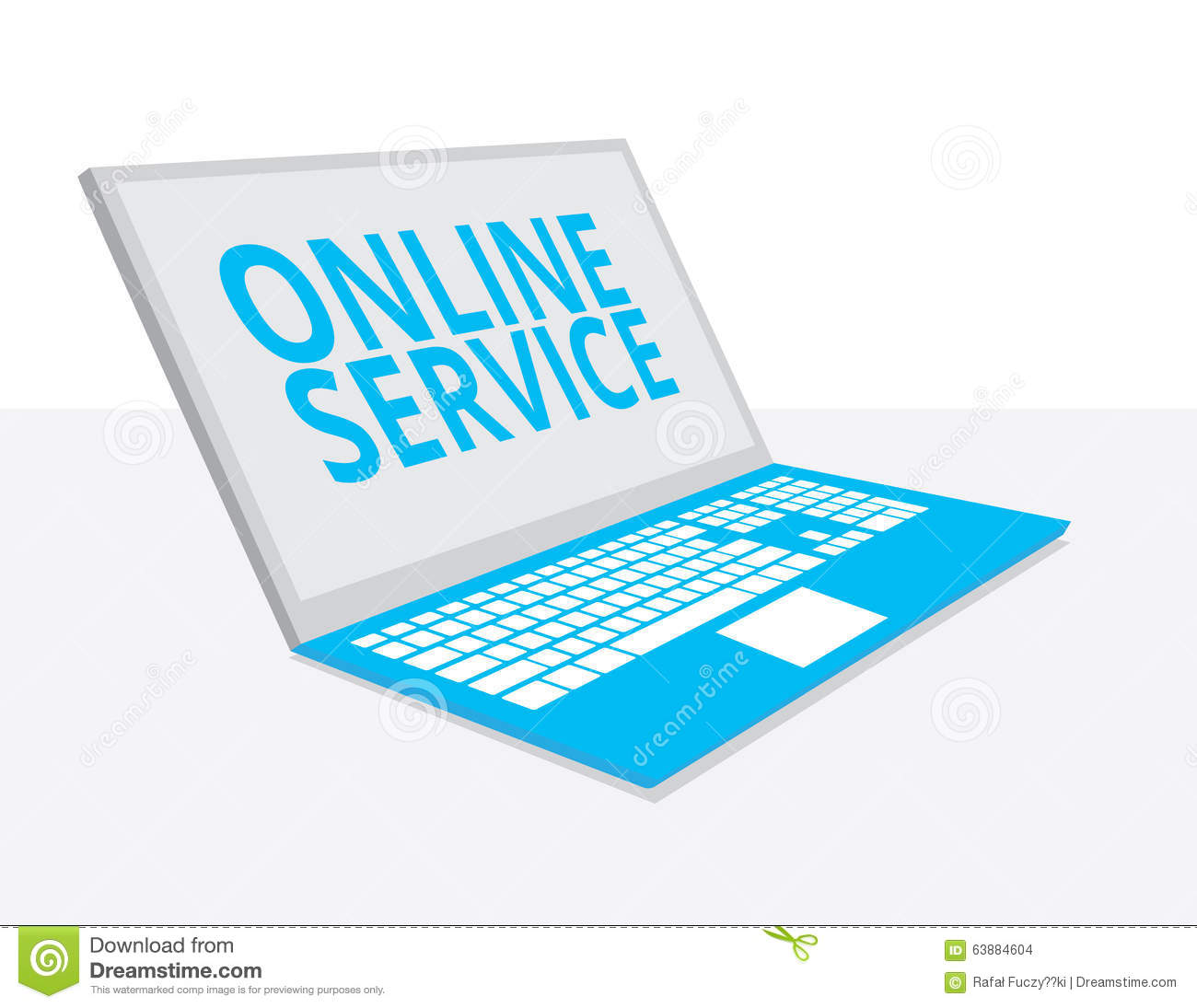 Online service stock vector image 63884604 for Online architect services