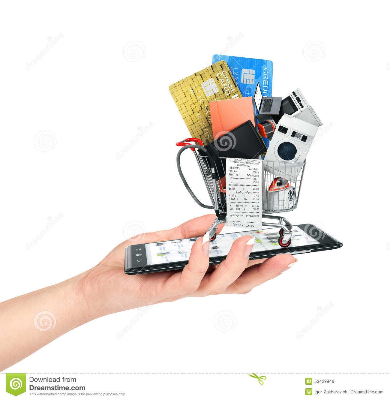 Home Store Online: Online Shop Concept. Stock Photo