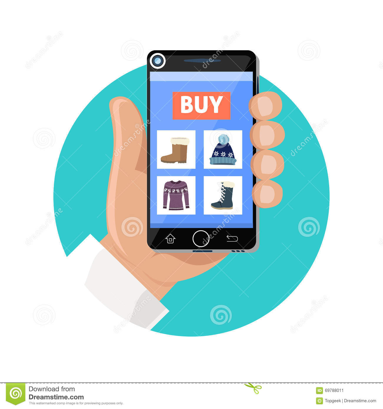 Online shop icon flat sale and buy stock vector image for Online retailer for sale