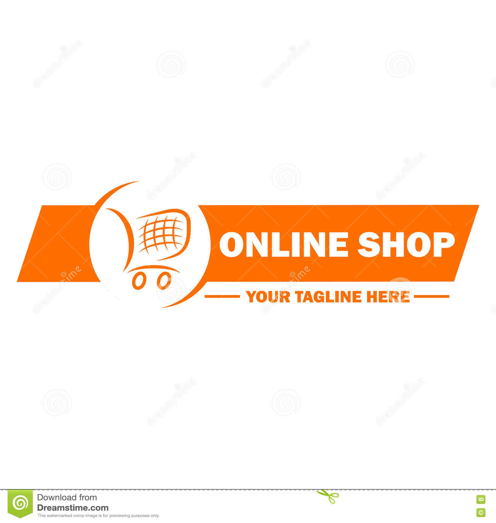 Online Design Shop | Online Shop Logo Template Design Stock Vector Illustration Of