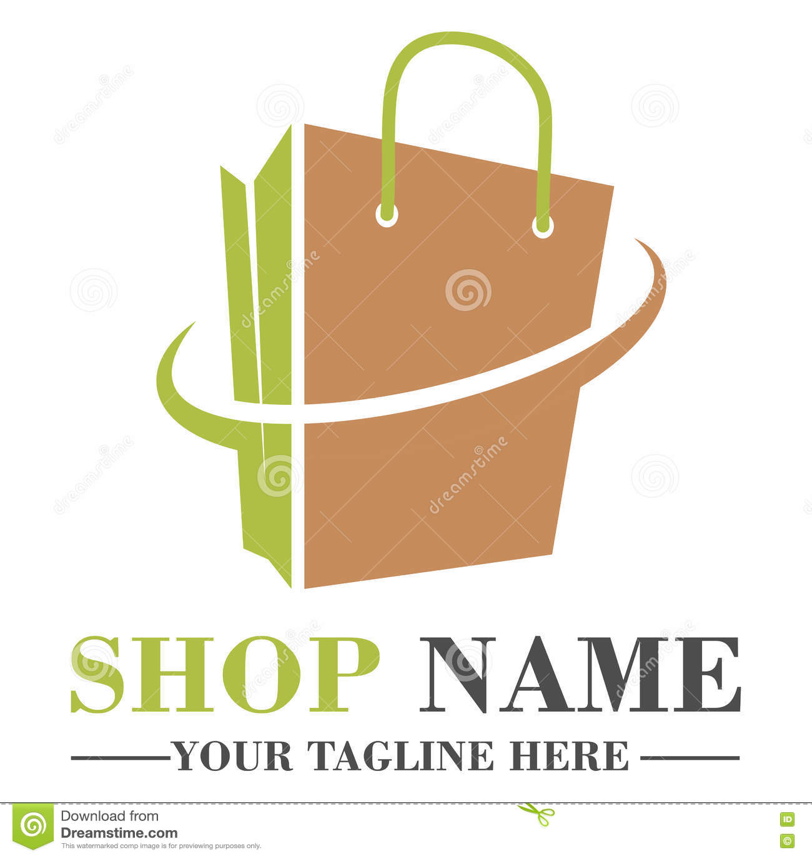 Online Shop Logo Template Design Stock Vector Illustration Of