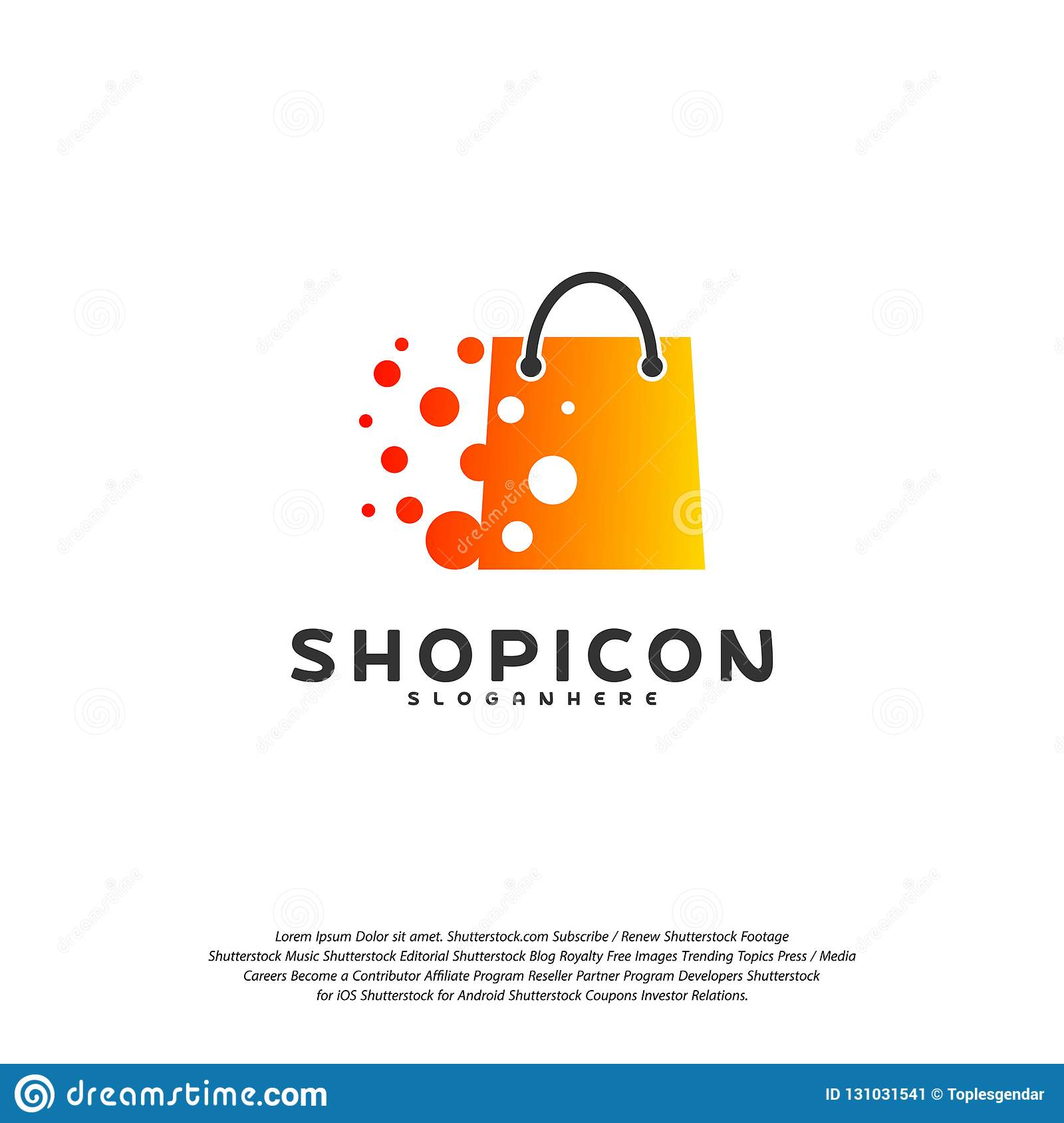 Online Shop Store Market Logo Template Design Vector Pixel Shop Logo Design Element Stock Vector Illustration Of Element Price 131031541