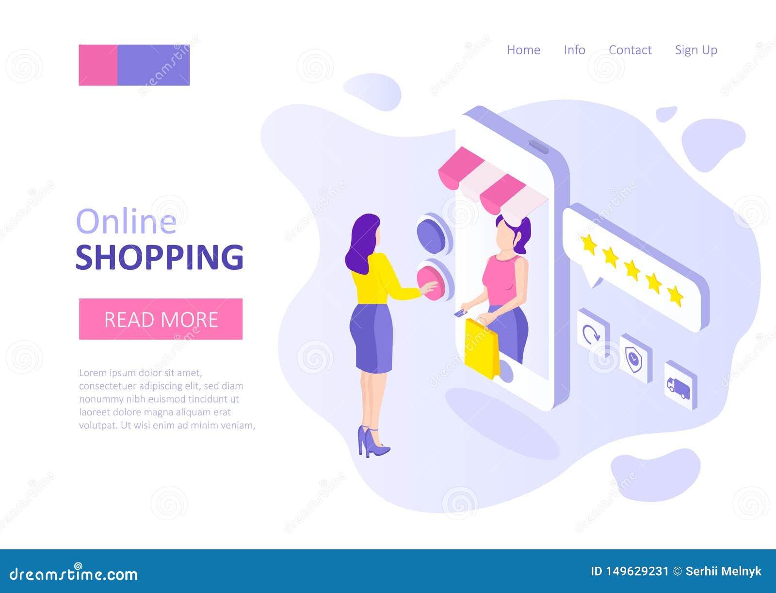 Online-shoppa mall för