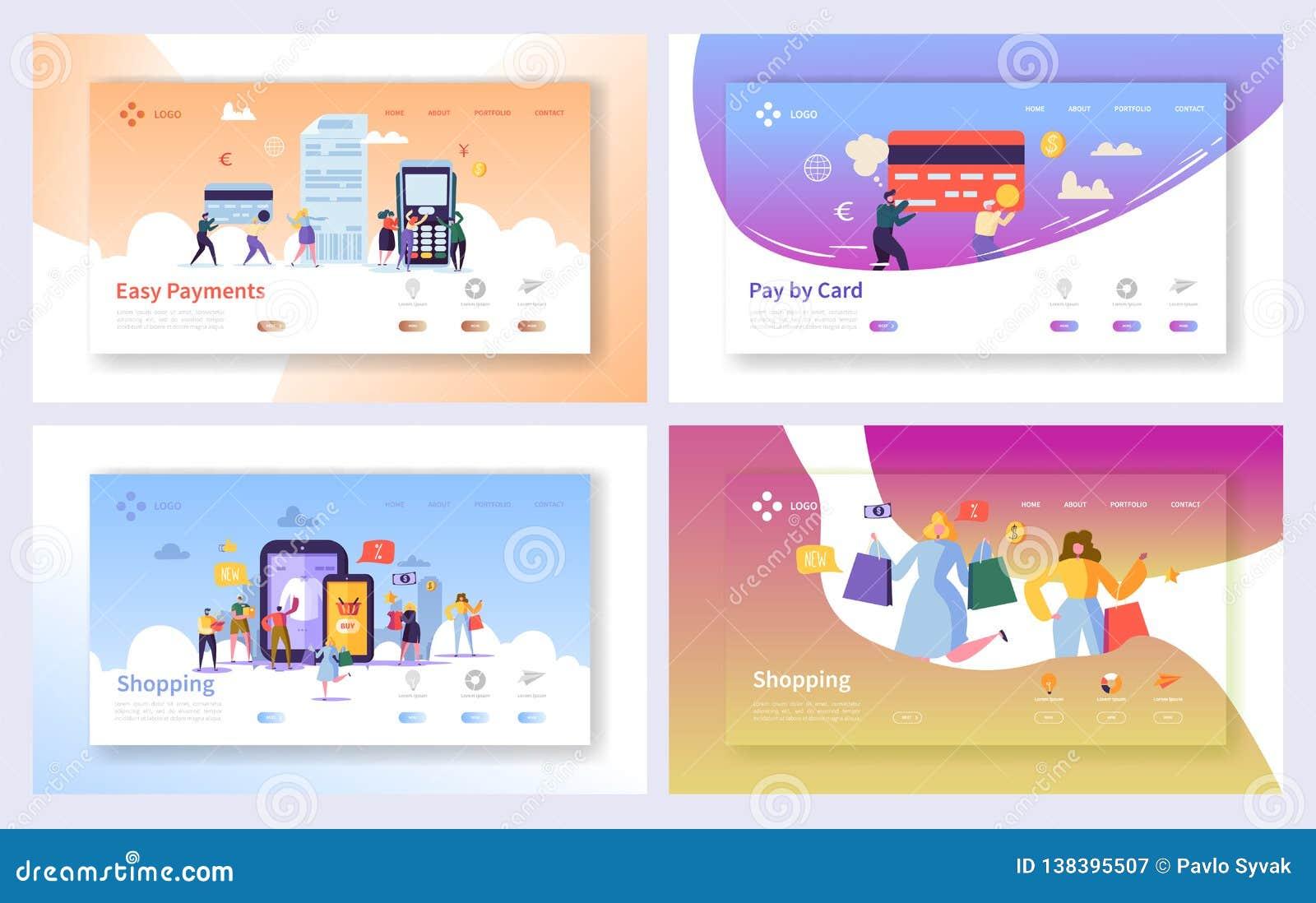 Online-shoppa uppsättning för sida för betalningtransaktionslandning Sale för internetE-kommers lager teknologi Marknadsföra deta
