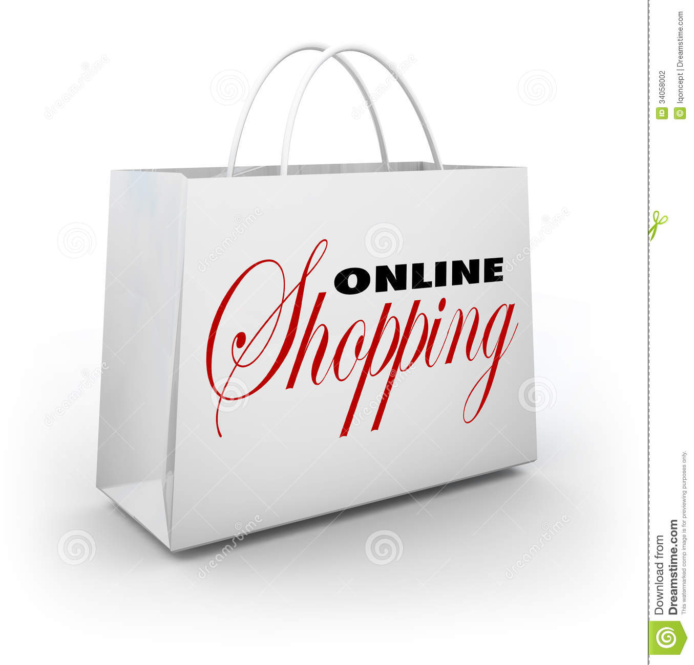 Online shopping bag e commerce web store stock photography for Online store for shopping