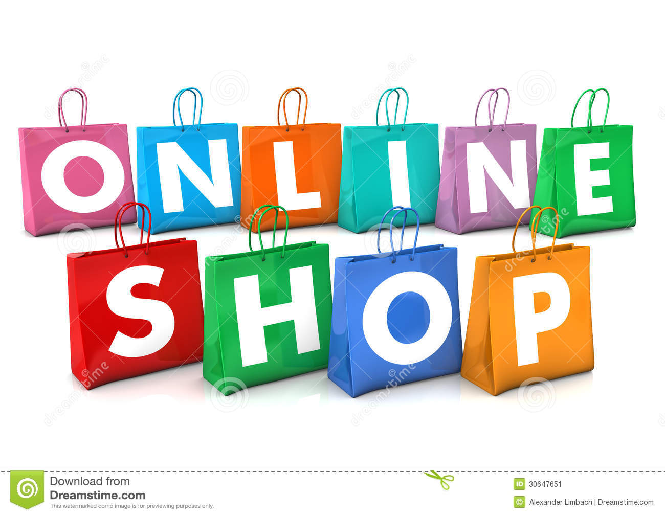 Online shopping bags stock illustration illustration of for Online shopping for the home