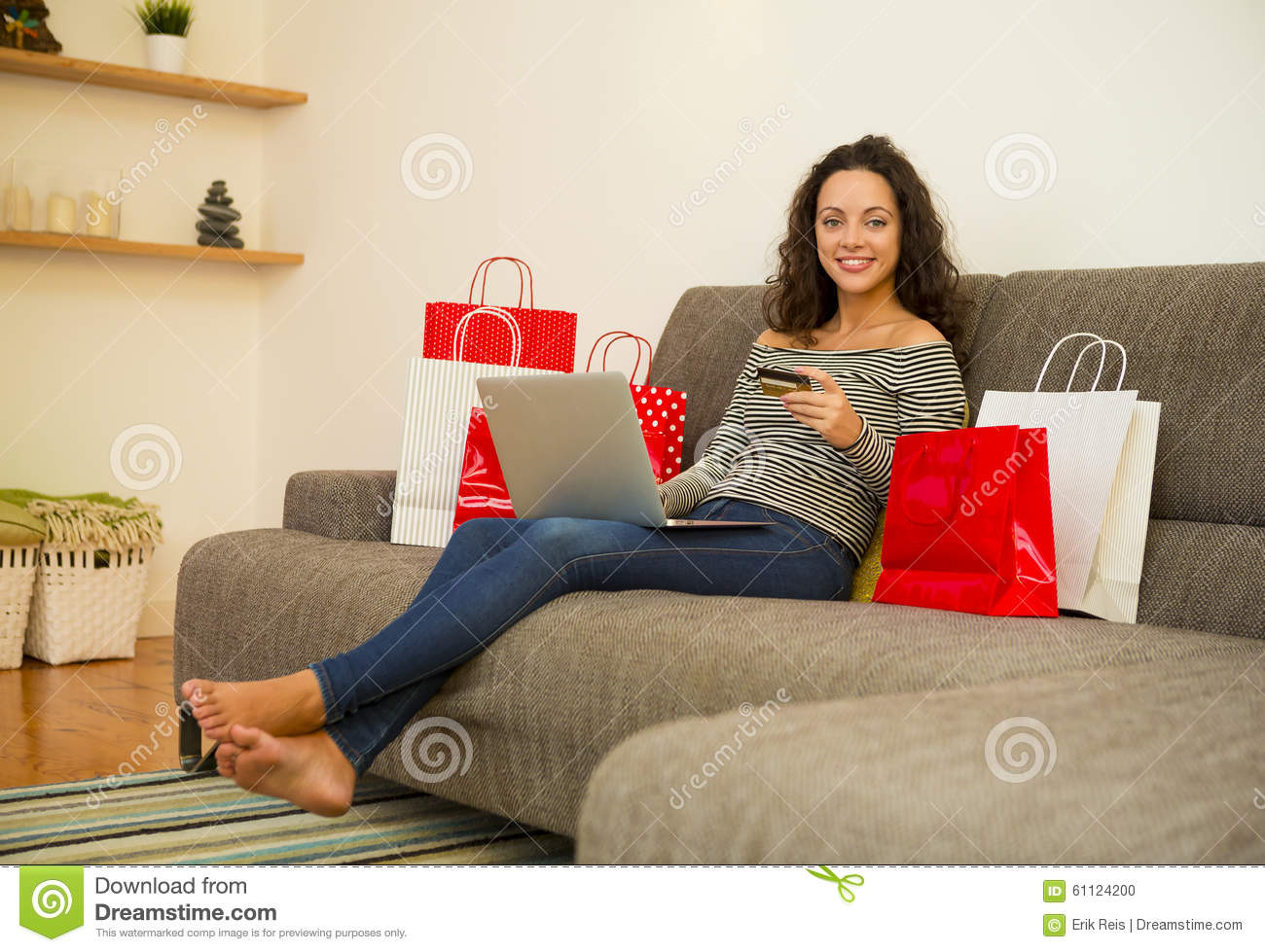 Online shopping stock photo image 61124200 for Online shopping for the home