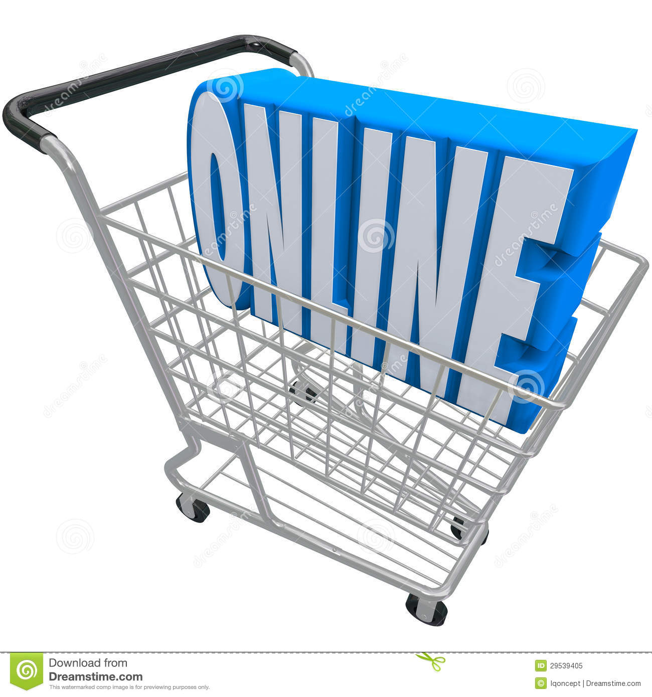 Online Shopping Cart Basket Word Internet Web Store Royalty Free Stock ...