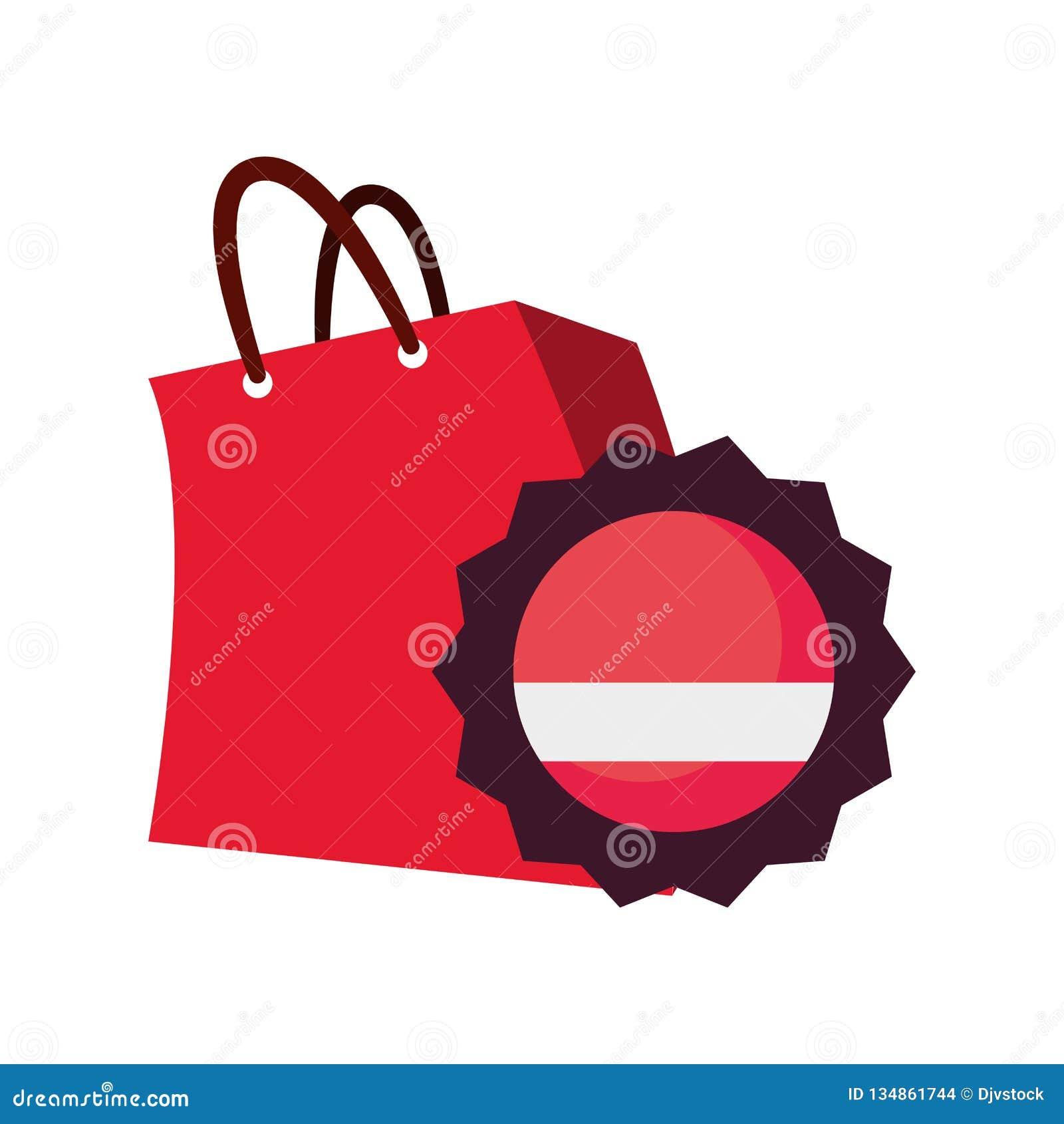 Online shopping bag badge ribbon vector illustration. More similar stock  illustrations 8f0aa134e5881