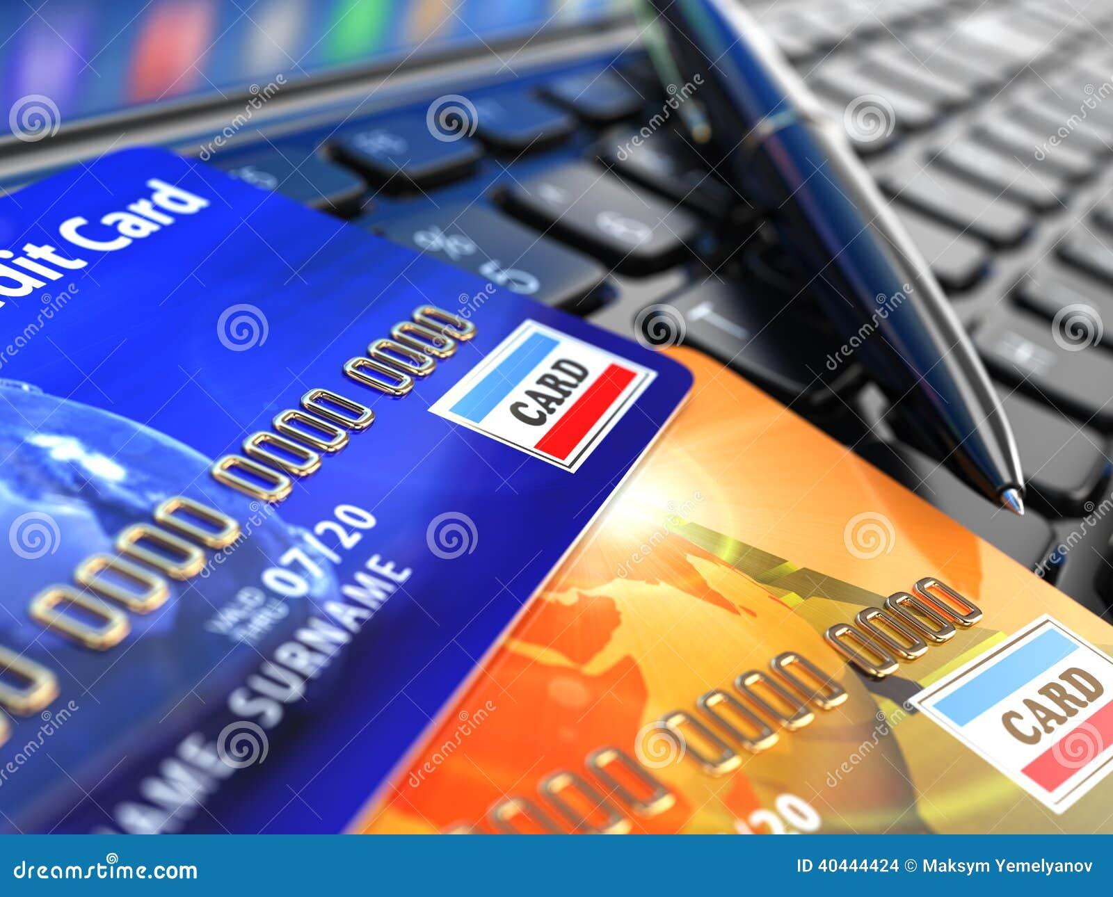 Online shopping visa card