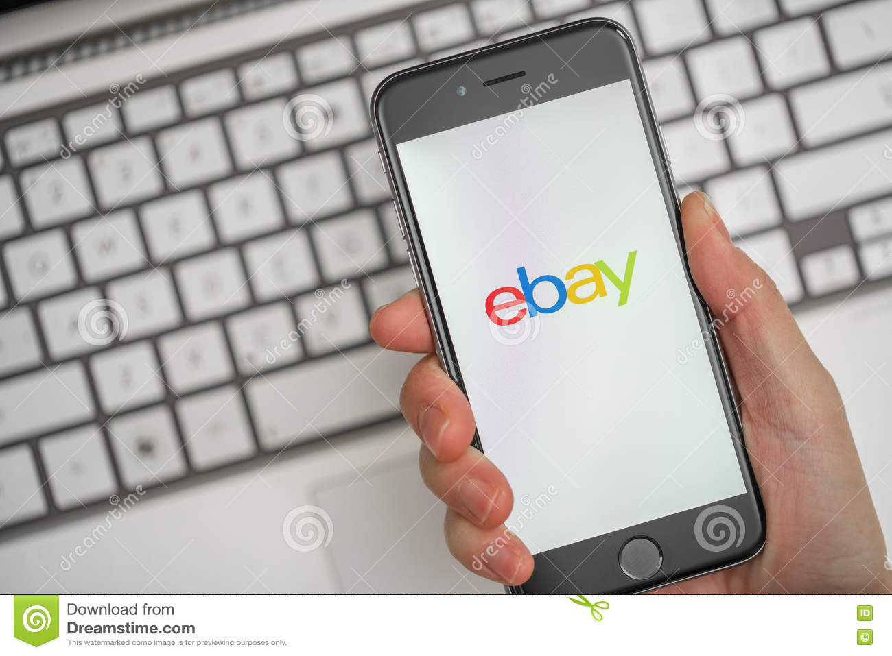 Online Shopping On Ebay Editorial Stock Image Image Of Auction 71167354