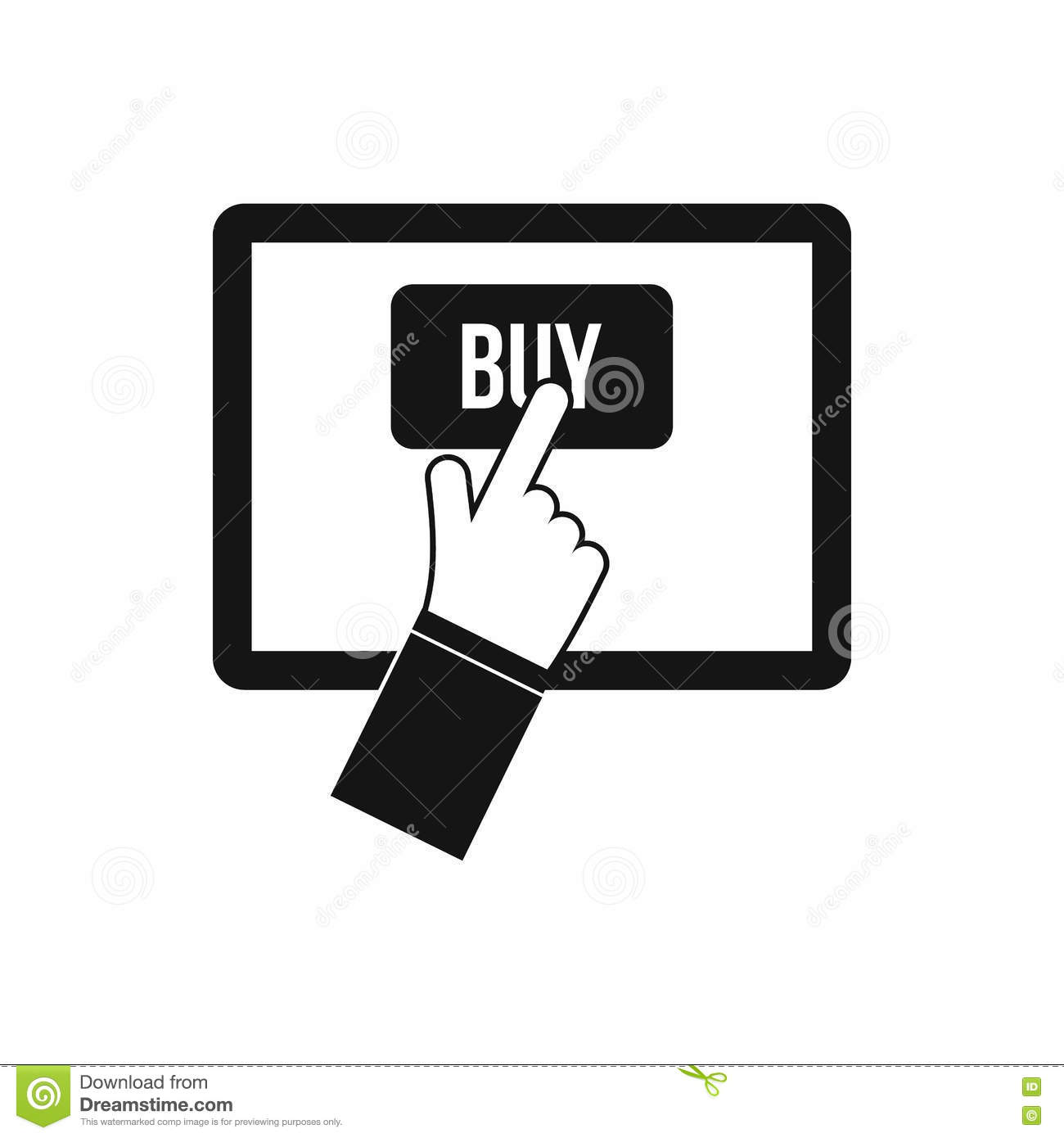 Online shopping black and white pictures