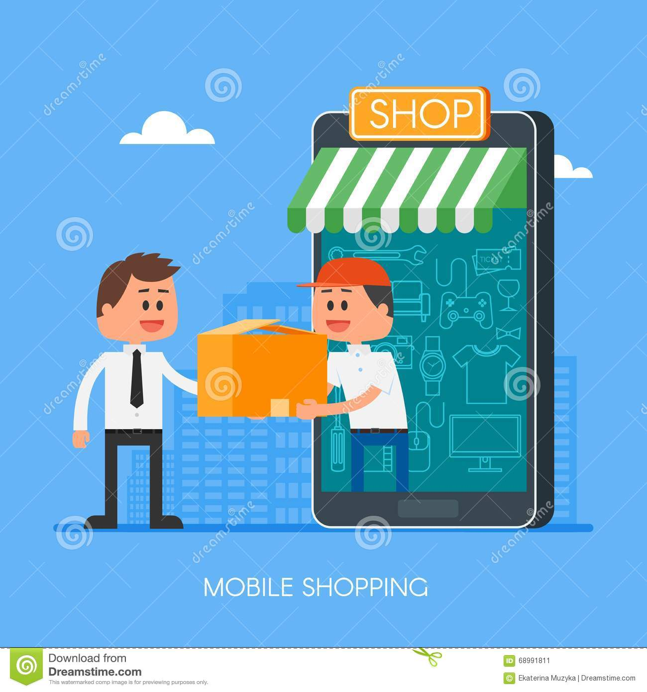 Online shopping on internet using mobile smartphone fast for Onlineshop fur mobel