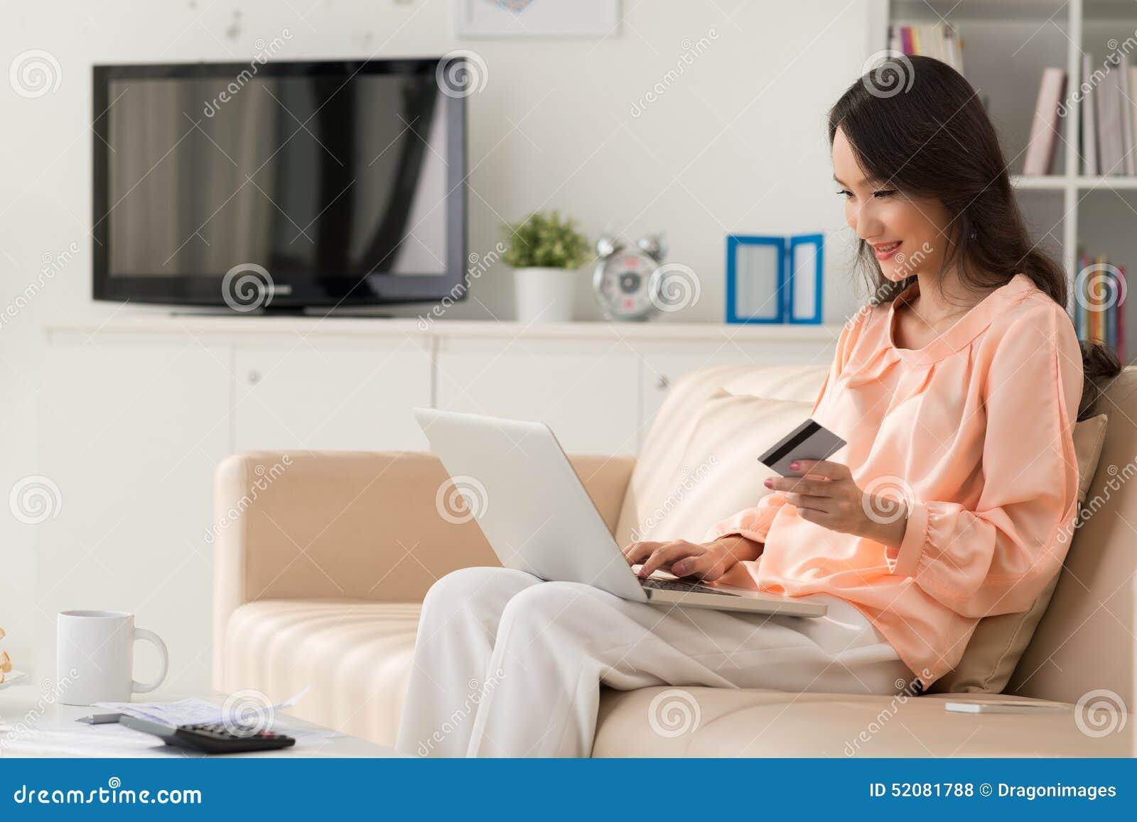 online shopping stock photo image 52081788. Black Bedroom Furniture Sets. Home Design Ideas