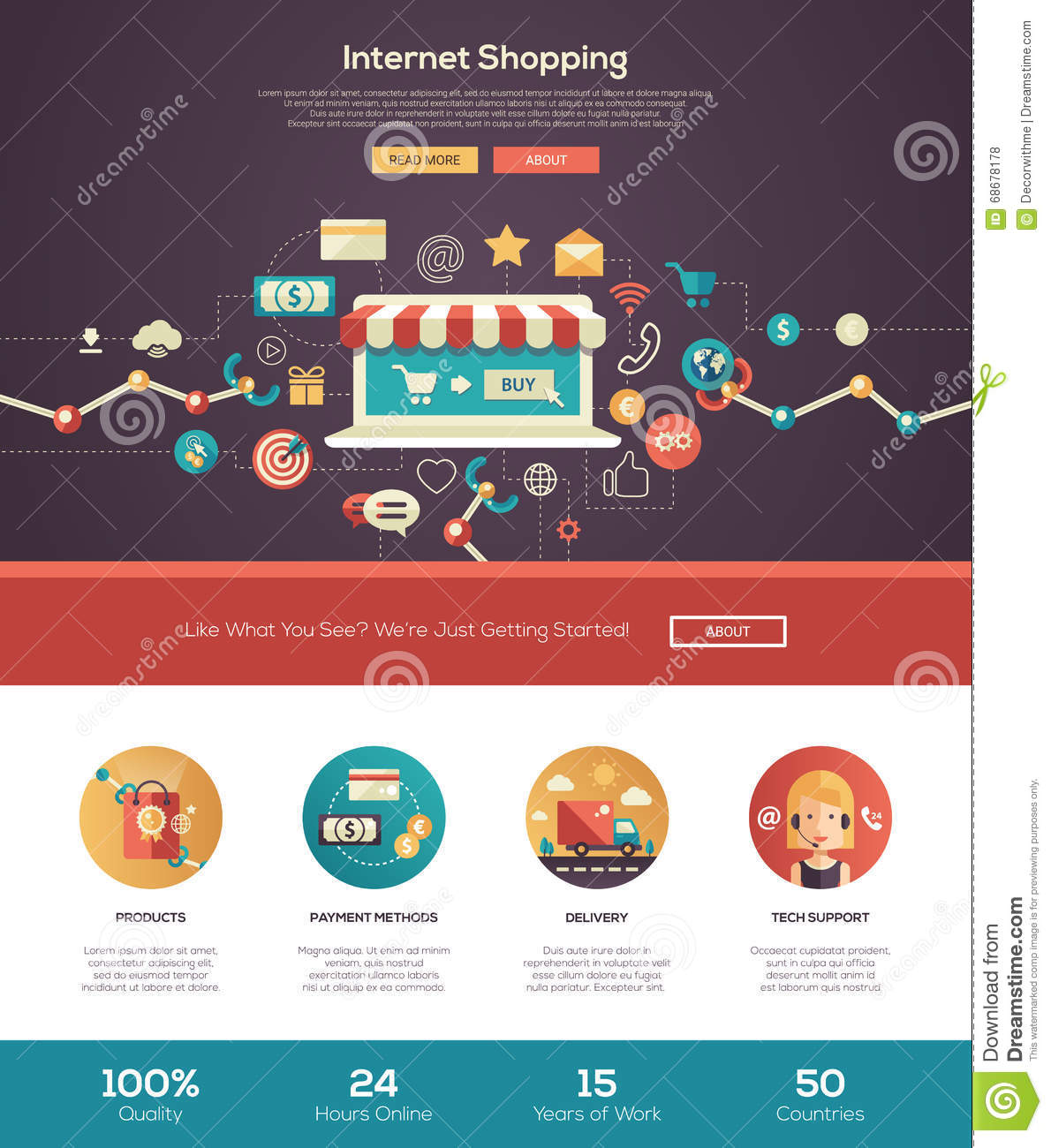 Online shopping website header banner with webdesign for Onlineshop design mobel