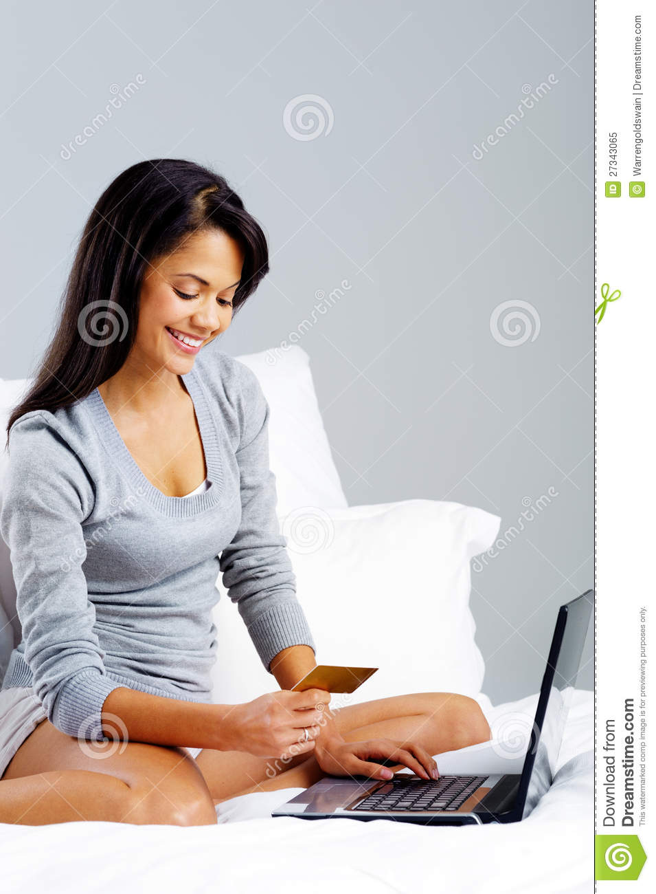 Online Shopping Woman Royalty Free Stock Photo - Image ...