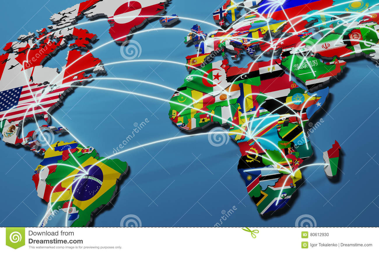 Online shopping in world map 3d illustration stock illustration online shopping in world map 3d illustration gumiabroncs Images
