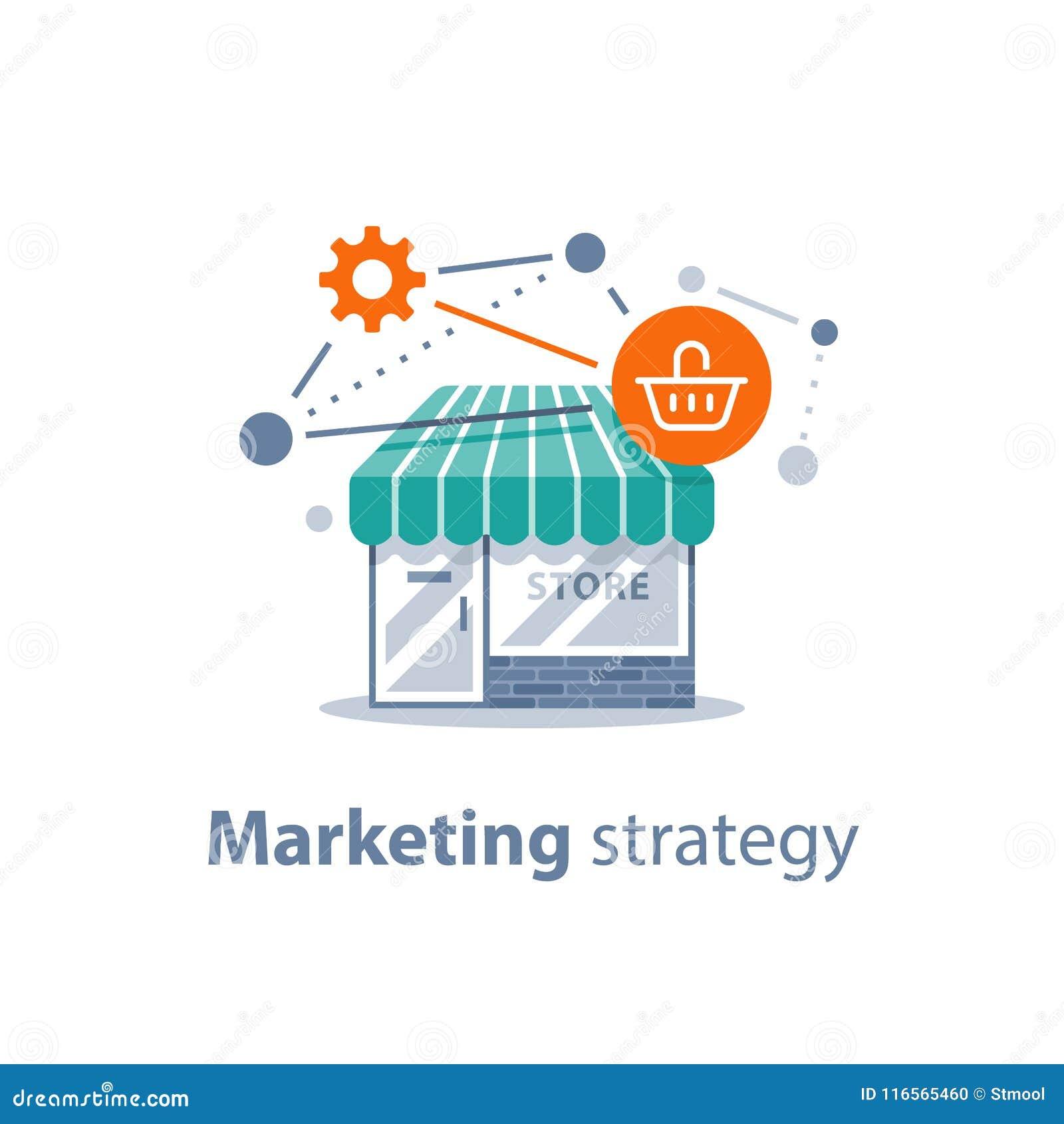 Online-shoppingteknologi, marknadsföringsstrategi, återförsäljnings- utveckling, lagerframdel