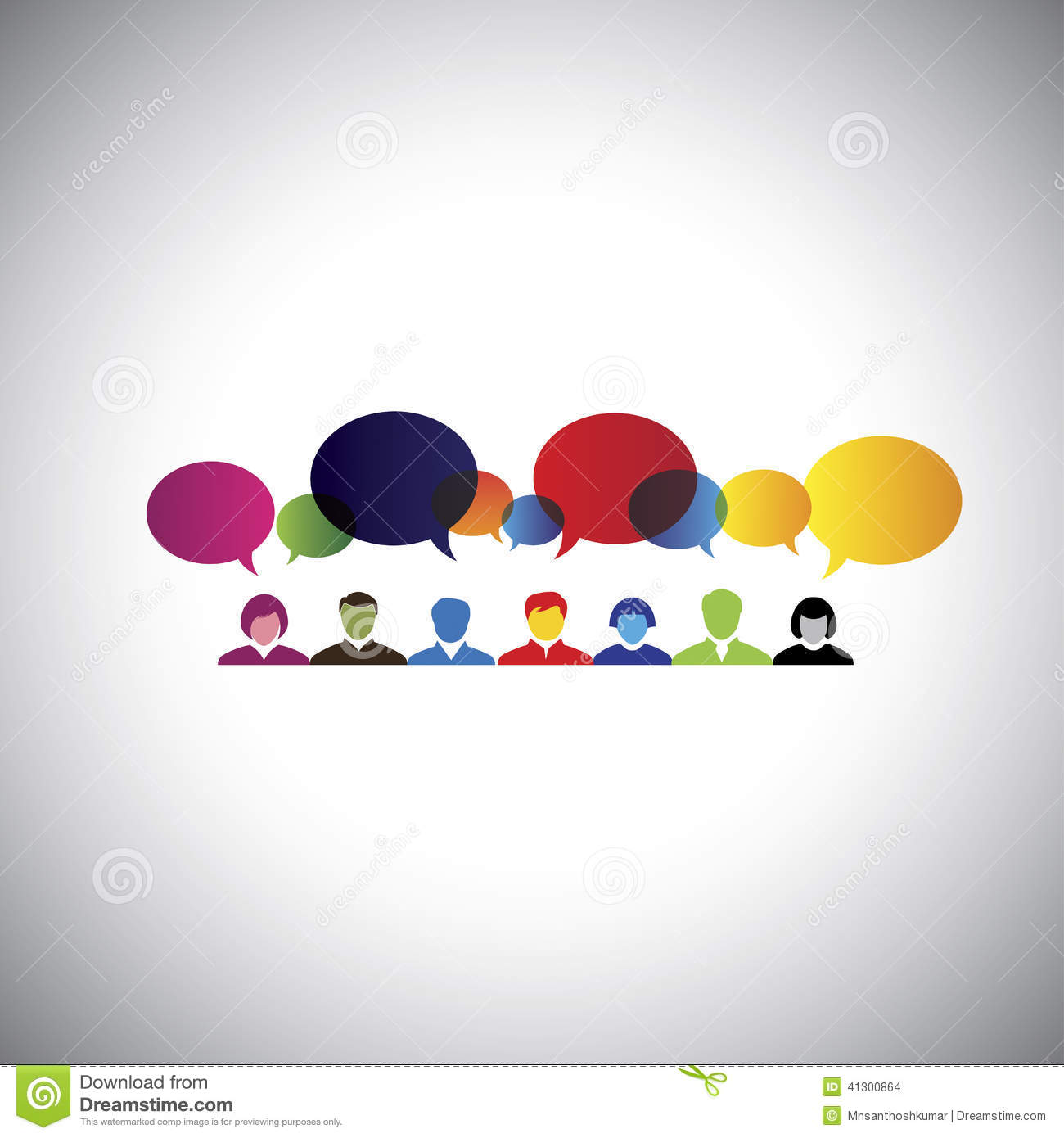 Online Social Network Of People Talking Chatting