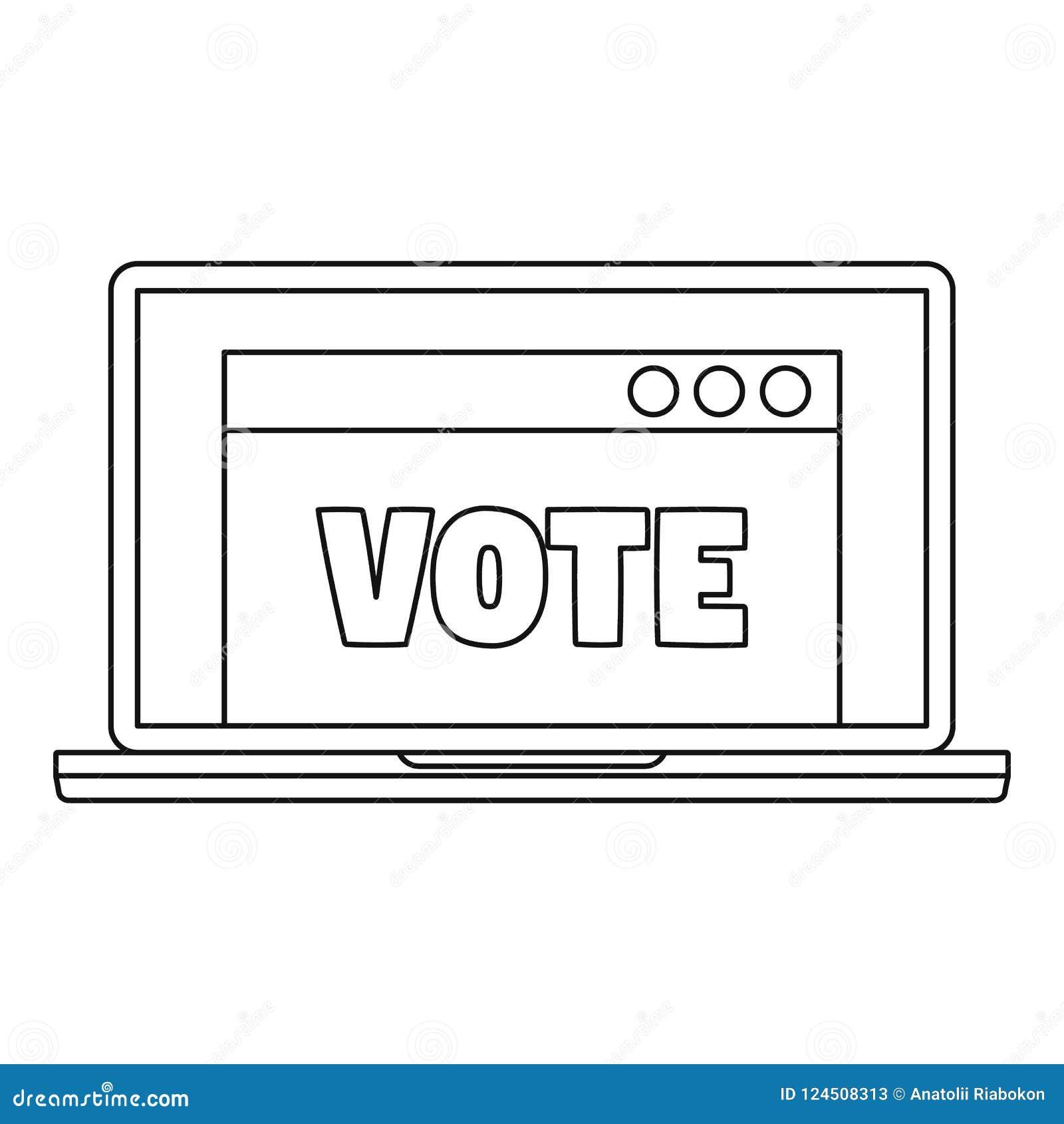 Online stempictogram, overzichtsstijl