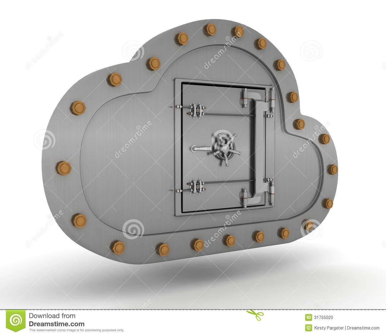 Online Storage In The Cloud Stock Photo Image 31755020