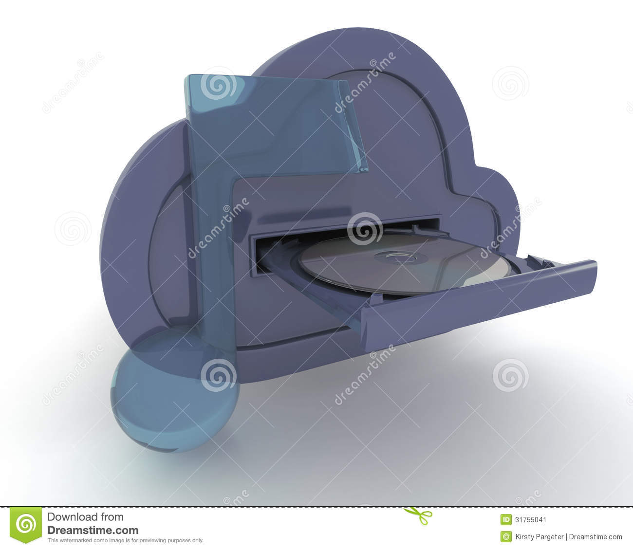 Online Storage In The Cloud Stock Image Image 31755041