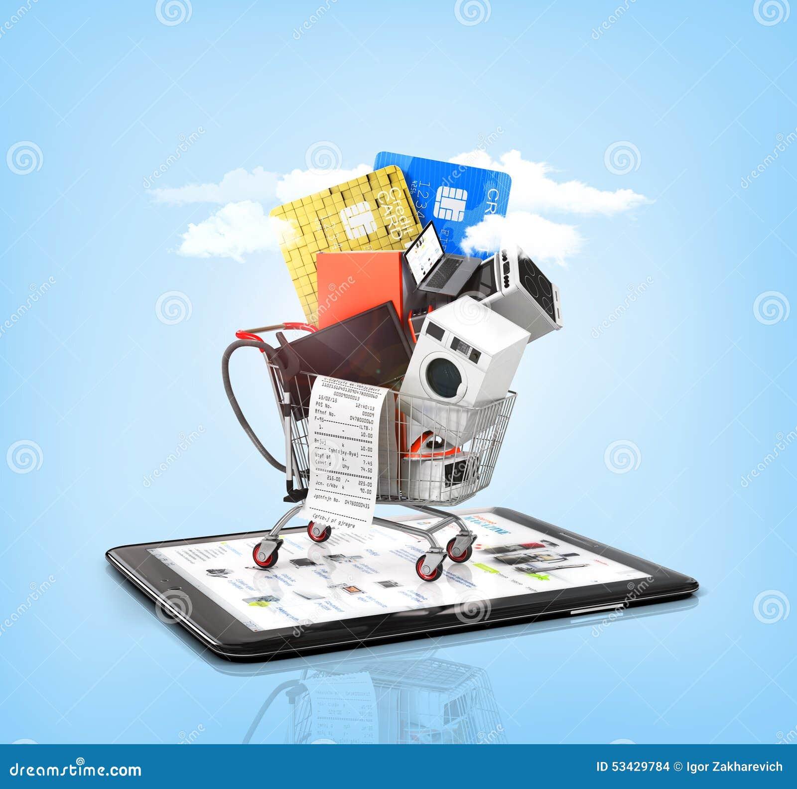 Online Store. Stock Illustration