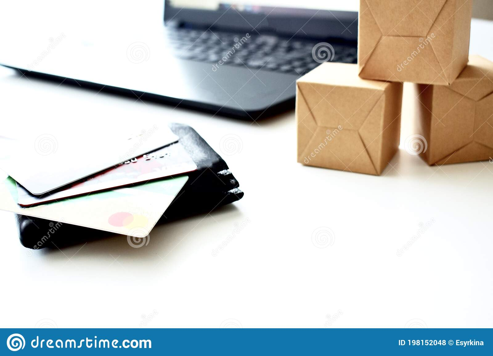 Boxes of credit cards
