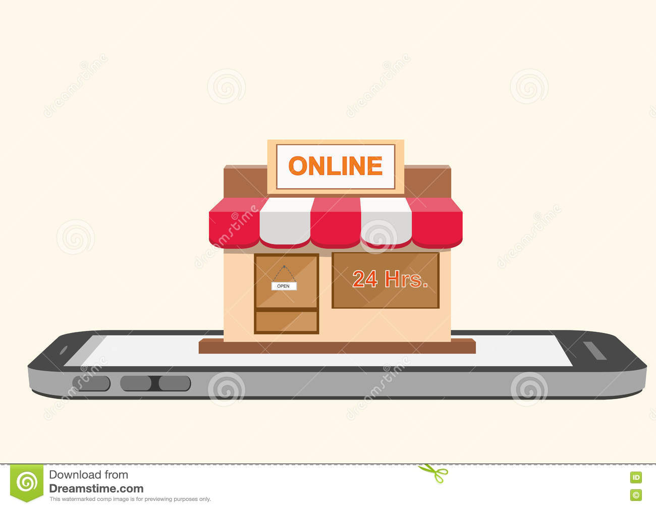 Online store shop on smartphone mobile screen stock vector for Store mobili online