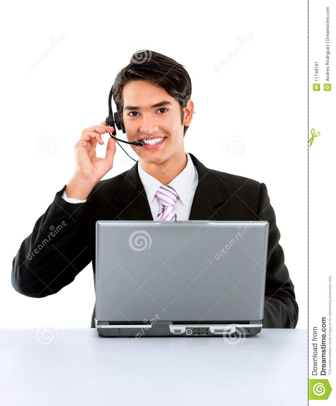 Online Support Stock Image Image Of Laptop Computer
