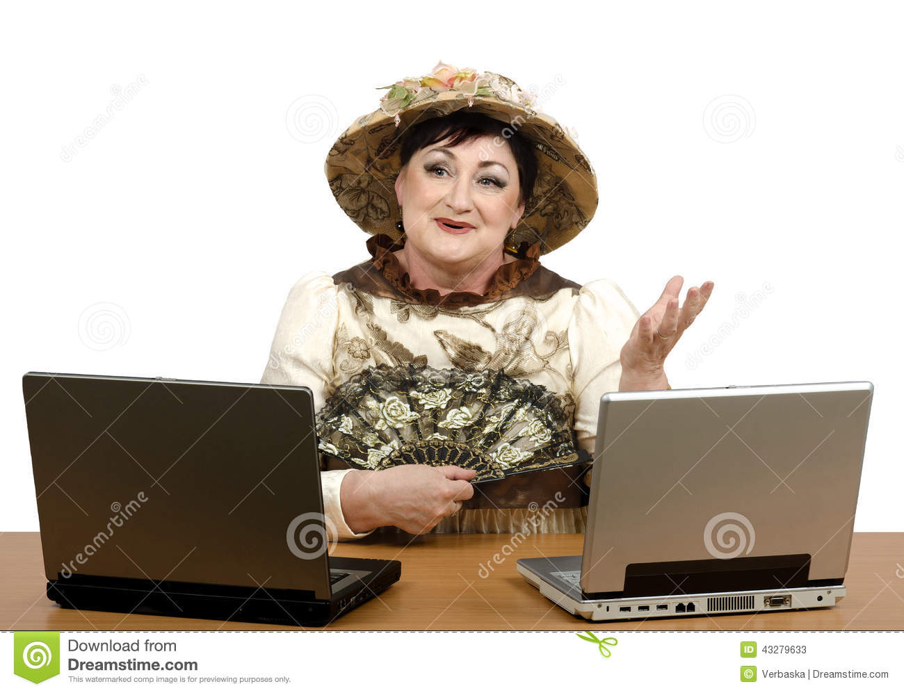 download online support operator wearing halloween costume stock image image of woman computer