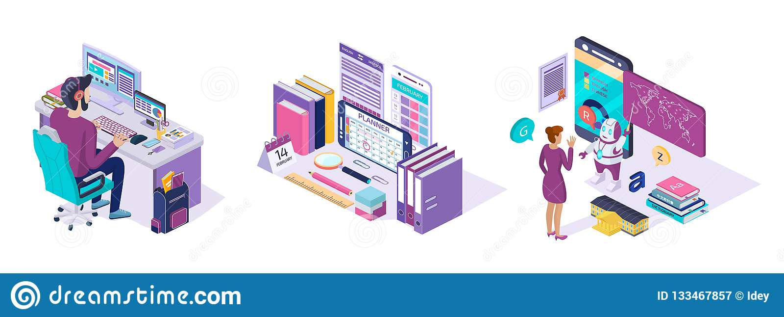 Online Training  E-learning Course School Language, Education Via