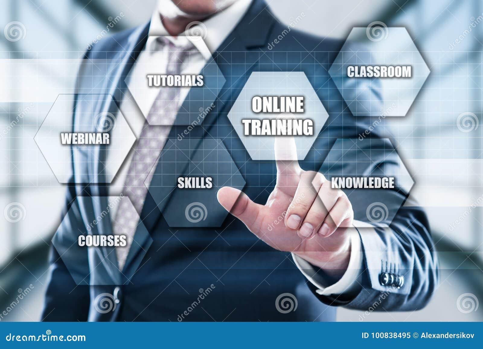 Online Training Webinar E-learning Skills Business Internet Technology Concept