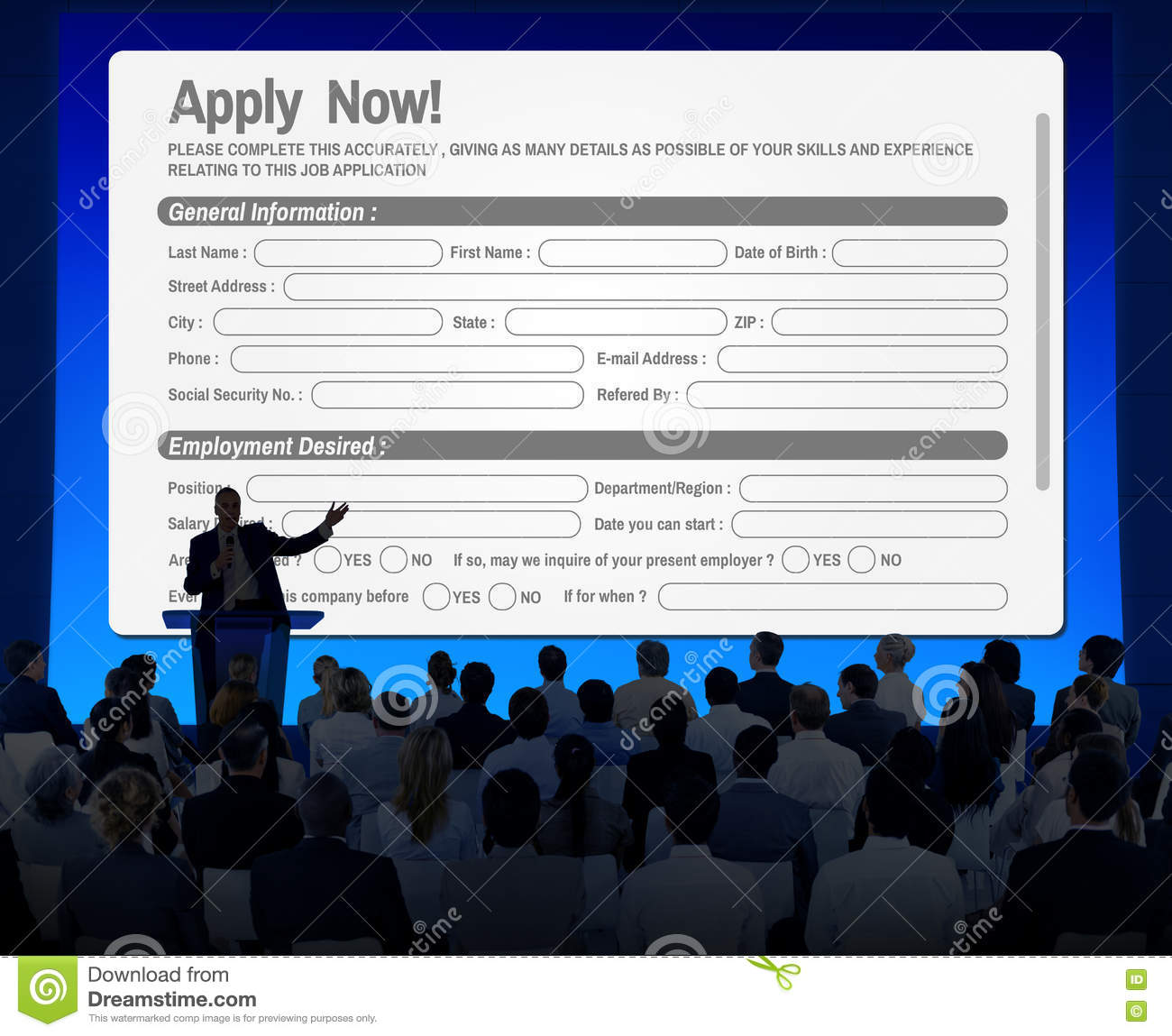 Online Web Job Application Form Concept Stock Photo - Image of ...