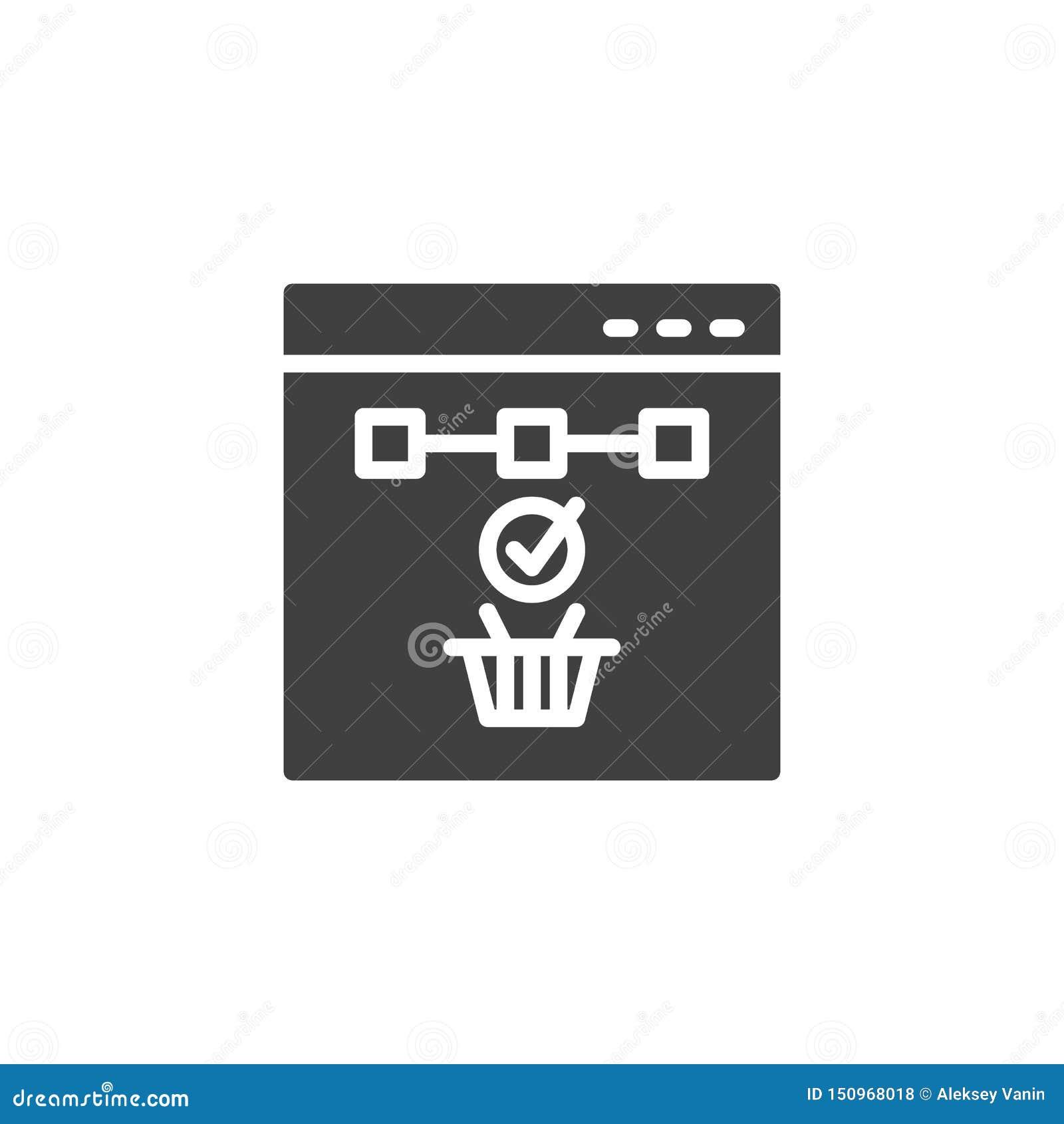 Online zakupy wektoru ikona