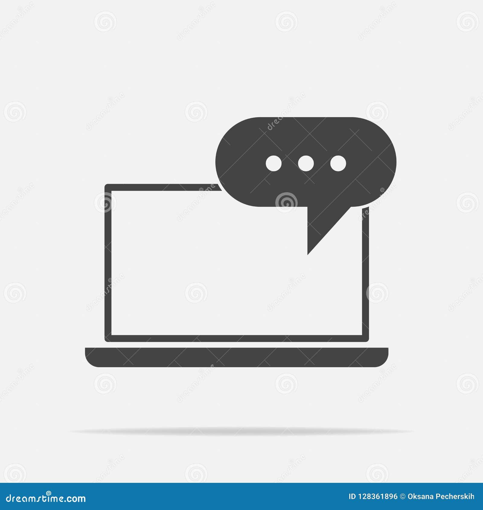 Onlinego szkolenia ikona Daleki sieci szkolenie Symbol online lear