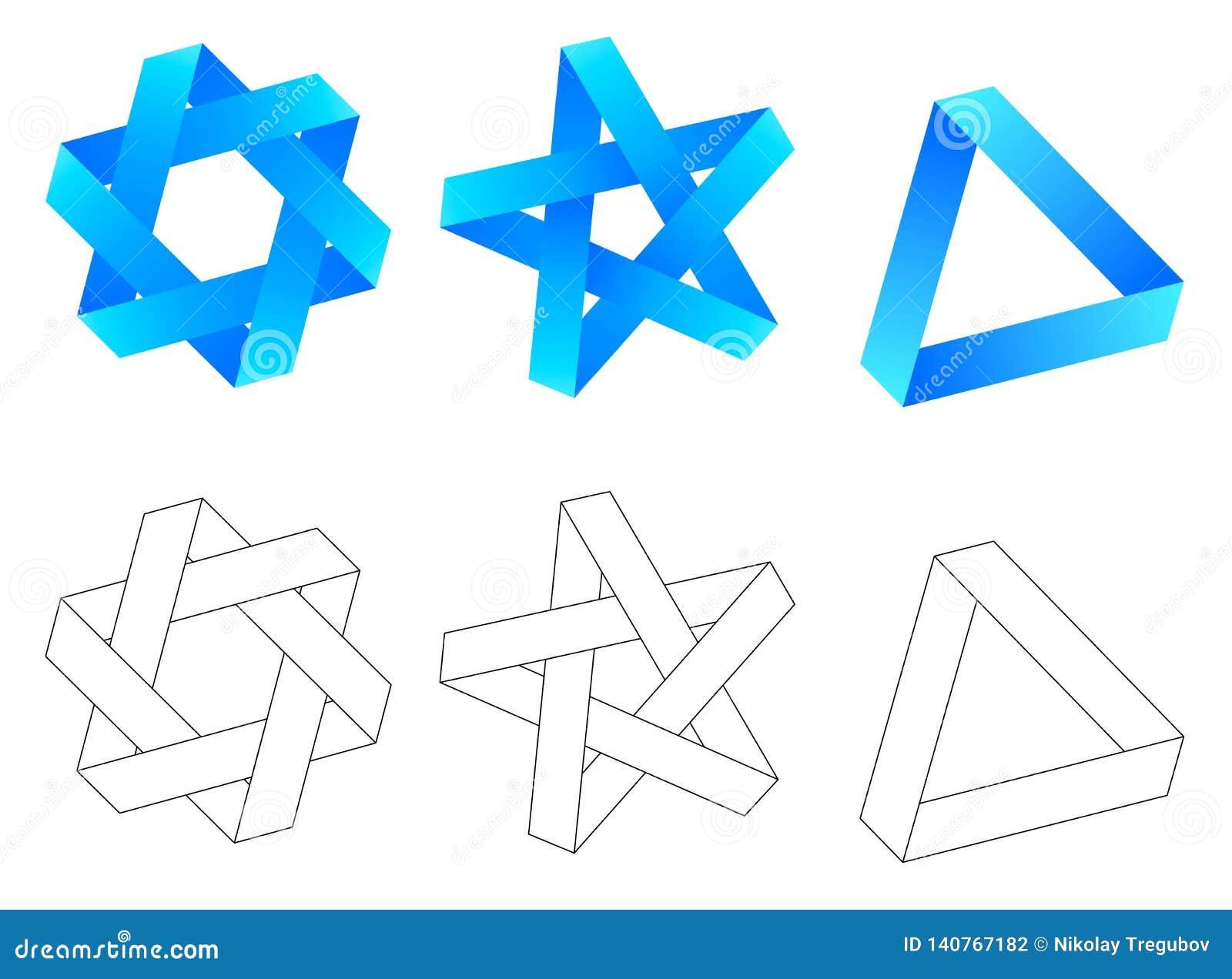 Onmogelijke meetkunde de zeshoek van de driehoeksster