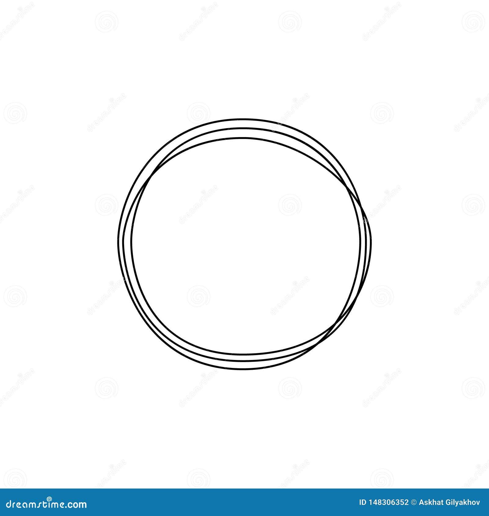 Ononderbroken de cirkel van de lijntekening Minimalismart. Vector illustratie