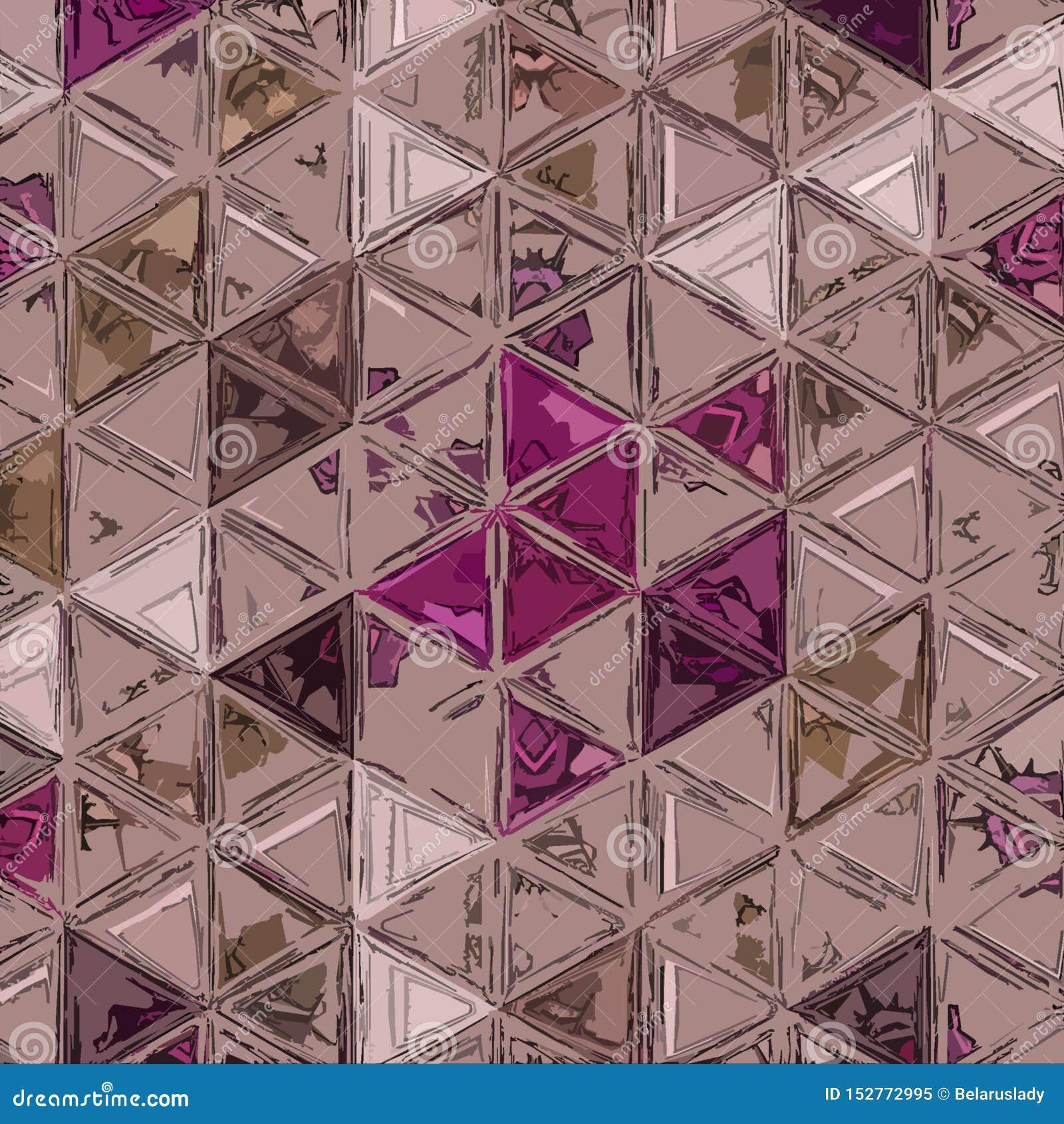 Ononderbroken wijn abstract patroon als achtergrond dat met driehoeken wordt gemaakt